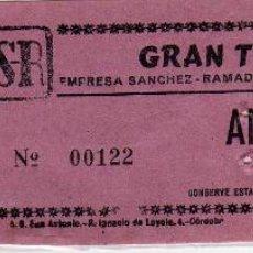 Cine: ENTRADA CINE - GRAN TEATRO - 12 NOVIEMBRE 1979 - ANFITEATRO . Lote 133012266