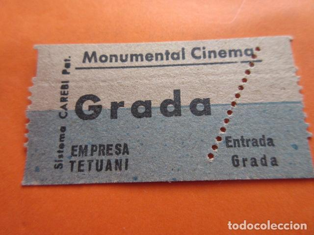 ENTRADA MONUMENTAL CINEMA GRADA EMPRESA TETUANI - LEER INTERIOR (Cine - Entradas)