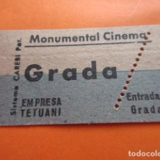 Cine: ENTRADA MONUMENTAL CINEMA GRADA EMPRESA TETUANI - LEER INTERIOR. Lote 133454326