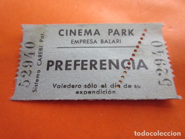 ENTRADA CINEMA PARK EMPRESA BALARI PREFERENCIA - LEER INTERIOR (Cine - Entradas)