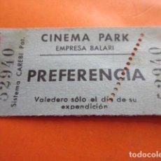 Cine: ENTRADA CINEMA PARK EMPRESA BALARI PREFERENCIA - LEER INTERIOR. Lote 133454494