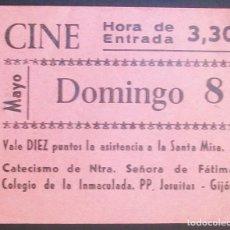 Cine: CINE. VALE 10 PUNTOS CATECISMO COLEGIO DE LA INMACULADA. JESUITAS. GIJÓN (ASTURIAS). Lote 134088102