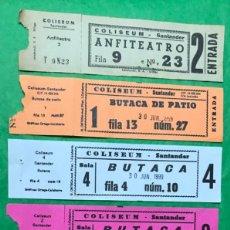 Cinéma: CINE COLISEUM - SANTANDER - LOTE DE 6 ENTRADAS DIFERENTES. Lote 135372418