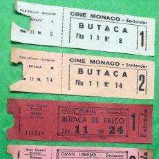 Cinéma: CINE MÓNACO, GRAN CINEMA, CERVANTES, GARCILASO ( TORRELAVEGA - SANTANDER) - LOTE DE 6 ENTRADAS. Lote 135372858