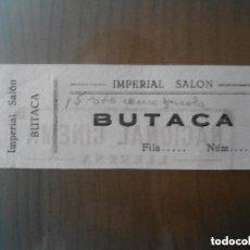 Cine: ANTIGUA ENTRADA IMPERIAL SALON - NACIONAL CINEMA - LLERENA - BADAJOZ. Lote 135749262