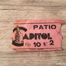 Cine: R4813 ENTRADA TICKET CINE TEATRO CAPITOL (8-3-1959) . Lote 139419050