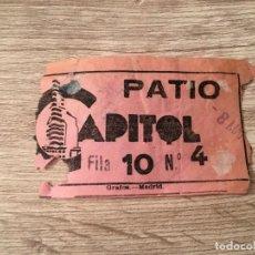Cine: R4814 ENTRADA TICKET CINE TEATRO CAPITOL (8-3-1959) . Lote 139419074