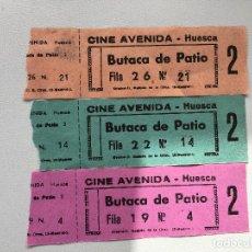 Cine: ENTRADAS DEL CINE AVENIDA DE HUESCA. Lote 139723774