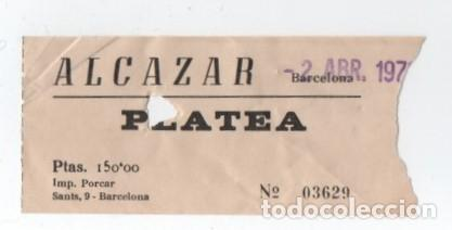 ENTRADA CINE ALCAZAR (Cine - Entradas)