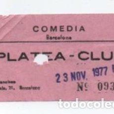 Cine: ENTRADA CINE COMEDIA. Lote 140208826