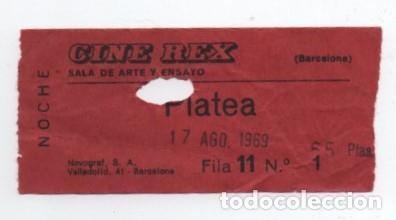 ENTRADA CINE REX (Cine - Entradas)