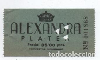 ENTRADA CINE ALEXANDRA (Cine - Entradas)