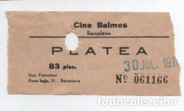 ENTRADA CINE BALMES (Cine - Entradas)