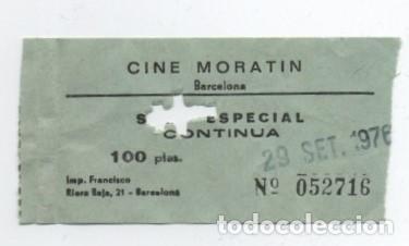 ENTRADA CINE MORATIN (Cine - Entradas)