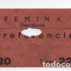 Cine: ENTRADA CINE FEMINA. Lote 140209254