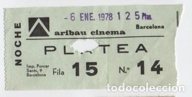 ENTRADA CINE ARIBAU (Cine - Entradas)