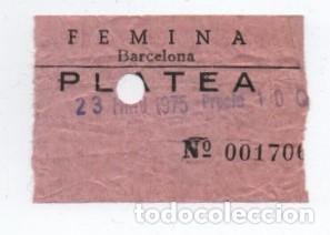 ENTRADA CINE FEMINA (Cine - Entradas)