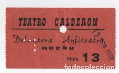 ENTRADA CINE CALDERON (Cine - Entradas)