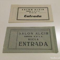 Cine: 2 ENTRADAS SALÓN ALCIR DE RICLA, ZARAGOZA ... ZKR. Lote 99107235