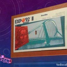 Cine: ENTRADA DE LA EXPO 92 DE SEVILLA. Lote 143145549