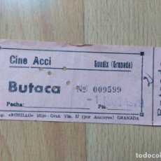 Cine: POD1-ENTRADA PARA EL CINE ACCI EN GUADIX (GRANADA). Lote 143058846