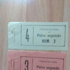Cine: PDO1- ENTRADAS PARA EL TEATRO DE LAS CORTES. Lote 143059310