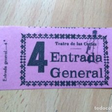 Cine: PDO1- ENTRADA PARA EL TEATRO DE LAS CORTES. Lote 143059418