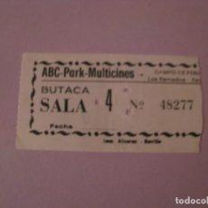 Cinema: ENTRADA DE CINE. SEVILLA. ABC-PARK-MULTICINES. 1983.. Lote 144495126
