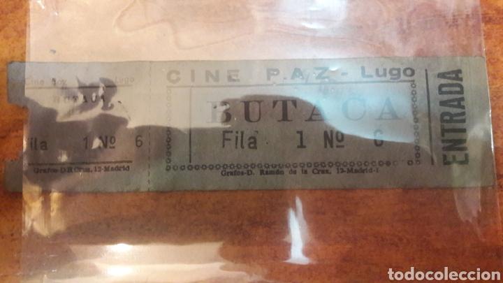 LUGO ENTRADA CINE PAZ BUTACA GRAFOS (Cine - Entradas)