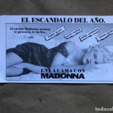 Cine: EN LA CAMA CON MADONNA. INVITACIÓN AL PREESTRENO DE LA PELÍCULA EN CINES MIKELDI (BILBAO), EN 1991. . Lote 147305794