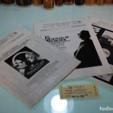 Cine: LOTE DE 3 BOLETINES DE CINE IMAGFIC84 + ENTRADA DE CINE ALBENIZ - 1984 - BOLETINES 7, 8 Y 9 -. Lote 148888118