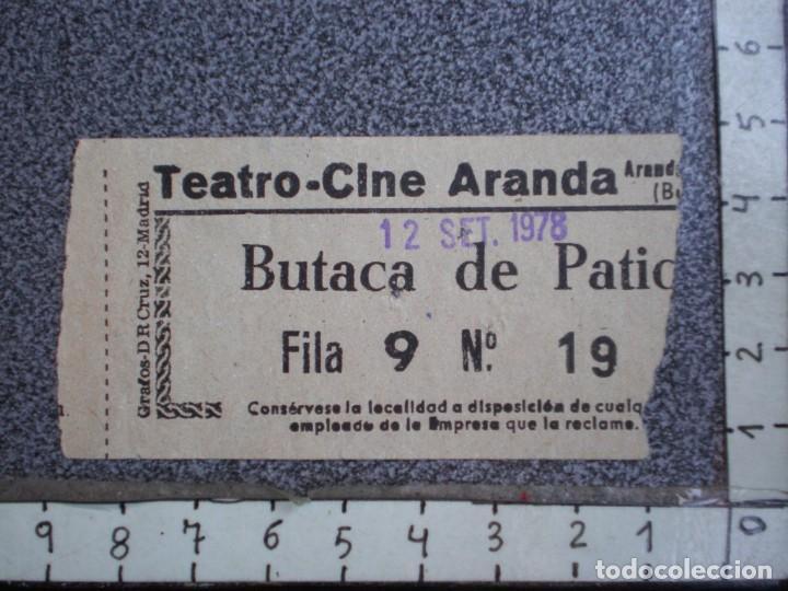 DOS ENTRADAS TEATRO CINE DE ARANDA DE DUERO - BURGOS AÑO 1978 (Cine - Entradas)