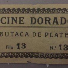 Cine: ENTRADA CINE DORADO BUTACA PLATEA 1942. Lote 150590834