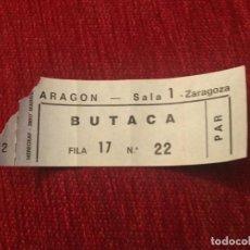 Cine: R5630 ENTRADA TICKET CINE ARAGON SALA I ZARAGOZA MADRID. Lote 155004998