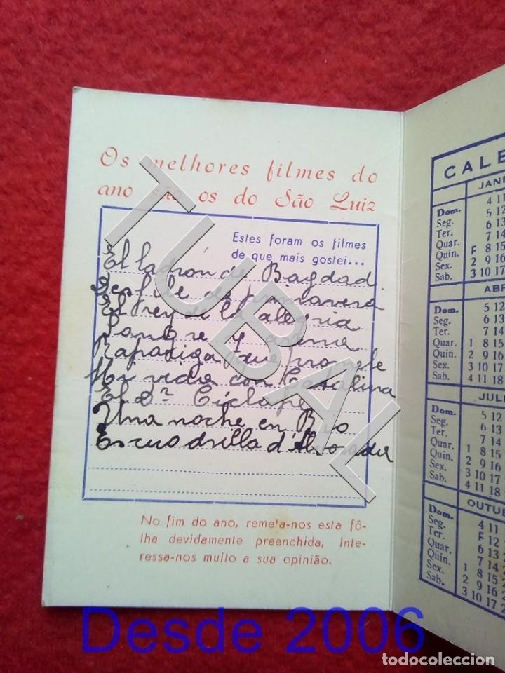 Cine: TUBAL 1942 CINE SAO LUIZ DIPTICO CALENDARIO RIO DE JANEIRO - Foto 3 - 155009254
