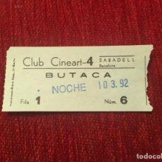 Cine: R5669 ENTRADA TICKET CLUB CINEART SABADELL BARCELONA 1992 PELICULA JFK. Lote 155015178