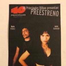 Cine: PERDITA DURANGO. INVITACIÓN AL PREESTRENO PELÍCULA DE ÀLEX DE LA IGLESIA. 24/10/1997.. Lote 155030874