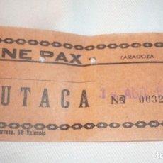 Cine: ENTRADA CINE DESAPARECIDO PAX DE ZARAGOZA; AÑO 1973. Lote 155416802