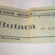 Cine: ENTRADA CINE DESAPARECIDO SALA MOLA DE ZARAGOZA; AÑO 1973. Lote 155417158