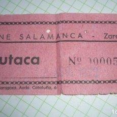 Cine: ENTRADA DE CINE DESAPARECIDA SALA SALAMANCA DE ZARAGOZA; AÑO 1973. Lote 155420170