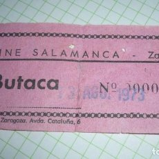 Cine: ENTRADA DE CINE SALAMANCA (YA DESAPARECIDO); AÑO 1973. Lote 155420290