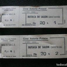 Cine: ANTIGUOS TALONARIOS /ENTRADAS DE CINE-CINE ASTORIA PALACE.(1966/1990)-VITORIA·ALAVA. Lote 155604690