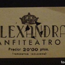 Cine: ANTIGUA ENTRADA DEL CINE ALEXANDRA DE BARCELONA . Lote 155688066