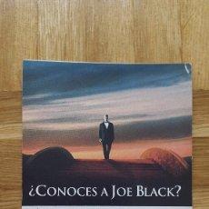 Cine: ENTRADA CINE KINEPOLIS - PELICULA ¿CONOCES A JOE BLACK? - VER FOTO ADICIONAL . Lote 155710022