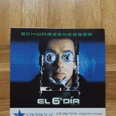 Cine: ENTRADA CINE KINEPOLIS - PELICULA EL 6º DIA - SCHWARZENEGGER - VER FOTO ADICIONAL - TOY STORY 2. Lote 155710170