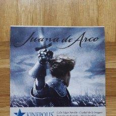 Cine: ENTRADA CINE KINEPOLIS - PELICULA JUANA DE ARCO - VER FOTO ADICIONAL . Lote 155710610