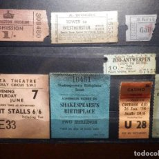 Cine: COLECCIÓN - LOTE DE ENTRADAS LONDRES - WELLINGTON MUSSEUM. ZOO, PLAZA THEATRE , OLD VIC, CASINO Y +. Lote 156868830