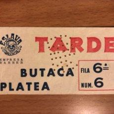 Cine: ENTRADA TEATRO ESLAVA VALENCIA 1960. Lote 156874712