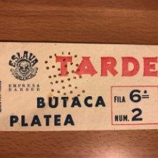 Cine: ENTRADA TEATRO ESLAVA VALENCIA 1960. Lote 156874781