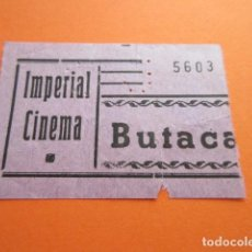 Cine: IMPERIAL CINEMA BUTACA. Lote 158666362
